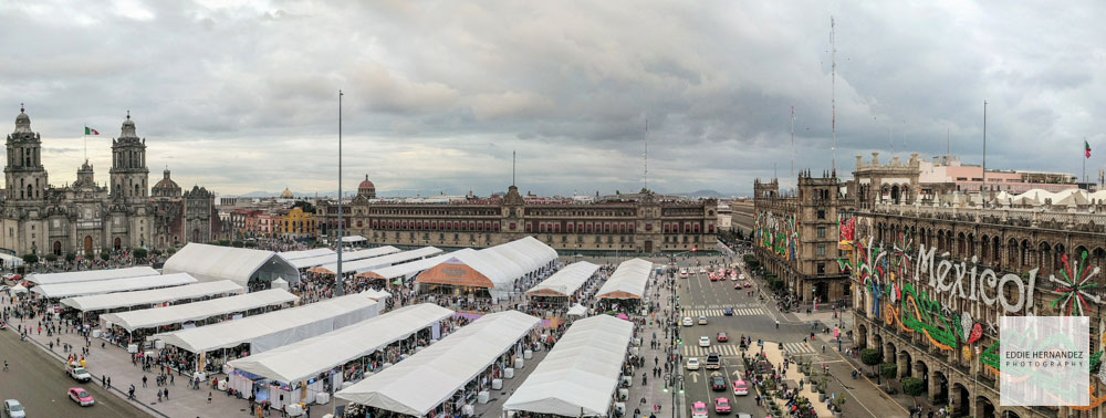 CDMX, Mexico City, Old Town Panoramic Street View