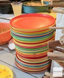 Colorful Stacked Plates, Mexico City, CDMX