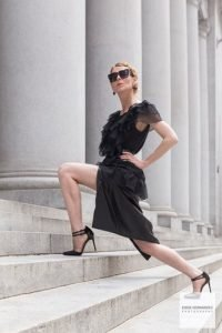 Female Fashion Modeling Portrait, Outdoor Architecture