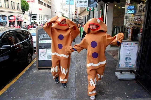 Gingerbread Men at San Francisco SantaCon
