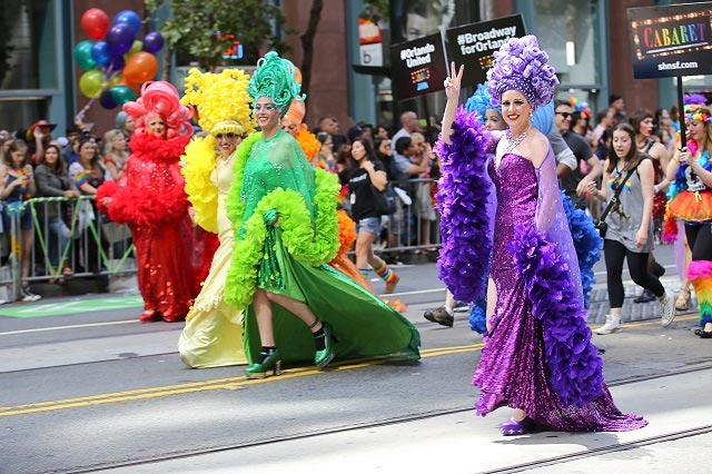 San Francisco Pride Parade Float and Participants