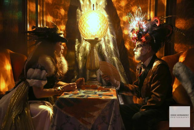 Edwardian Ball Fortune Teller Portrait