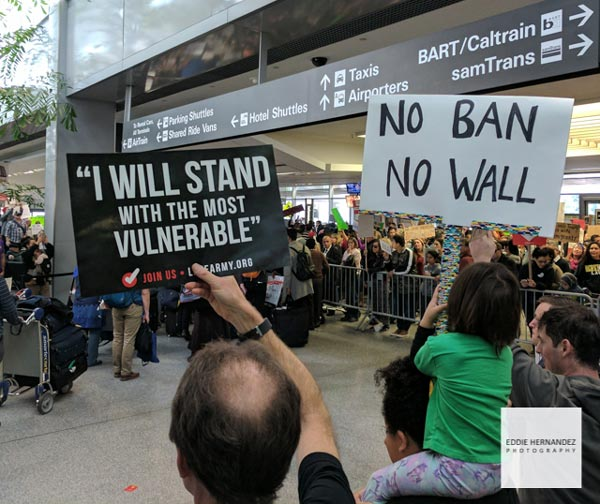 Muslim Ban Protest, San Francisco Airport, California, SFO