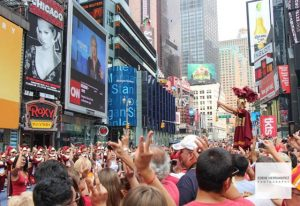 Times Square, Midtown, USC Football Rally, Manhattan, New York City