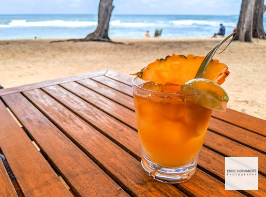 Mai Tai Cocktail on the Beach, Hawaii