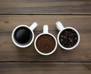 Coffee Cup Trio Art - Ground Coffee, Coffee Beans, Ground Coffee