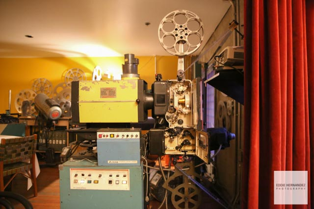 Restaurant Movie Projector, Foreign Cinema, Mission District, San Francisco