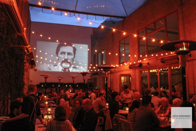 Restaurant Movie Projector Patio, Foreign Cinema, Mission District, San Francisco