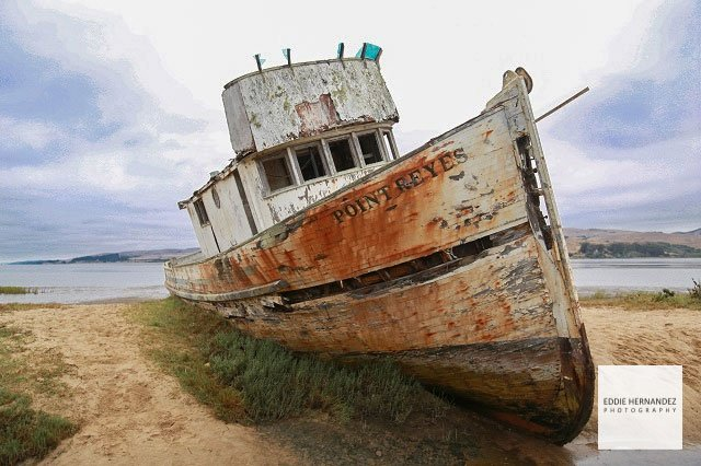 Point Reyes Abandoned Boat, Inverness, Marin County, CA