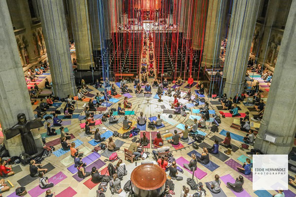 Grace Cathedral Interior Yoga, San Francisco, CA | Nob Hill