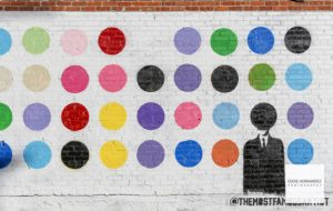 The Most Famous Artist DTLA Polka Dot Street Art Wall, Los Angeles