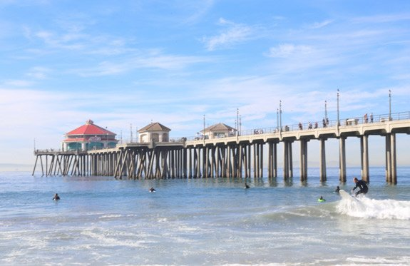 Huntington Beach Pier, Los Angeles, California
