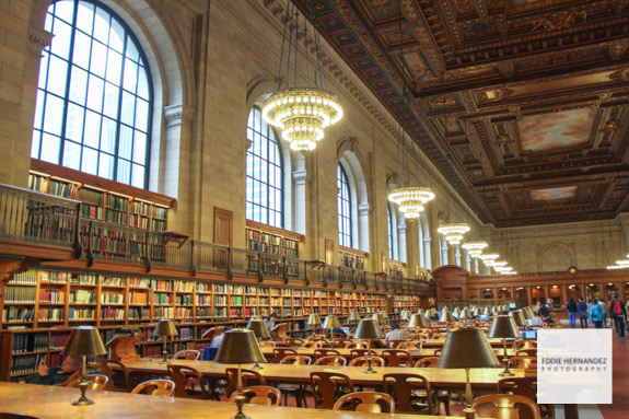 New York Public Library Interior View
