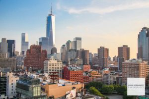 New York City SoHo Urban Panoramic Skyline View