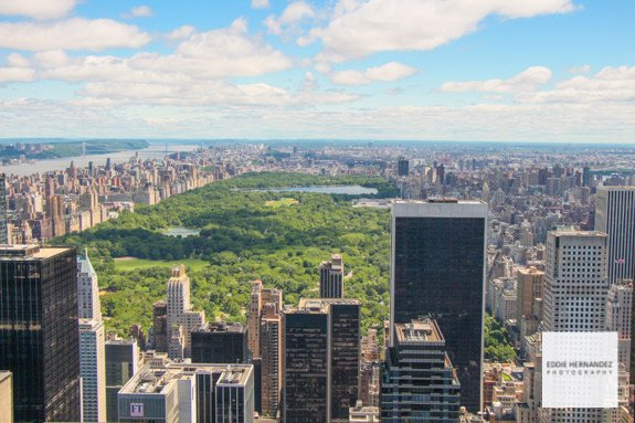 Central Park Aerial Panoramic View, Manhattan, New York City
