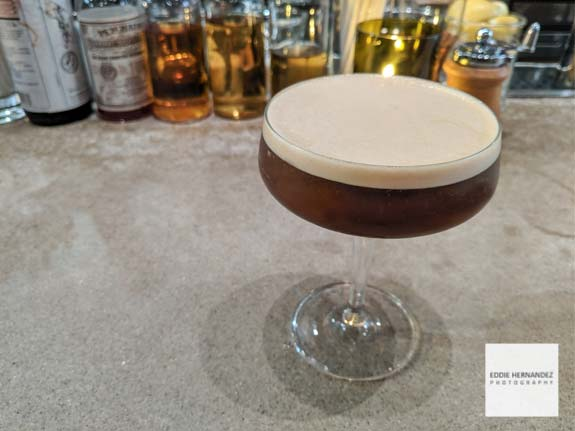 Espresso Bourbon Martini Cocktail Drink