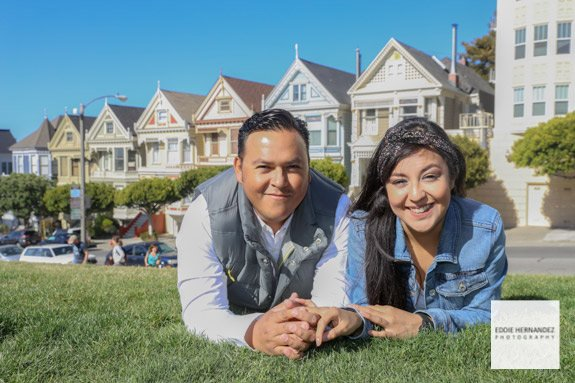 Personal Couple Vacation Photographer, San Francisco Alamo Square, Painted Ladies