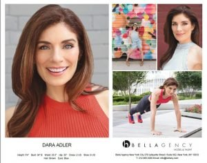 Dara Adler Comp Card, Professional Headshots and Portraits