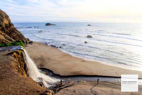 Alamere Falls, Sunset, Point Reyes, Marin County, California