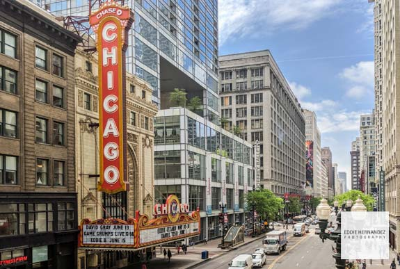 Chicago Theatre District View