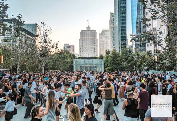 Salesforce Park Rooftop Salsa Dancing, San Francisco