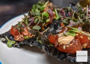 Liholiho, San Francisco - Tuna Poke, Sesame Oil, Radish, Nori Cracker