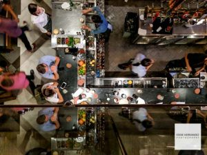 Restaurant Bar Overhead View | San Francisco Photographer