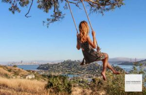 Female Outdoor Portrait, Swing, Hippy Hill, Tiburon, Marin County
