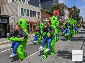 A Group Bay to Breakers Participants Carried By Aliens