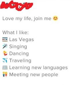 bad tinder bio, profile example