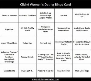 Women's Dating Bingo Card