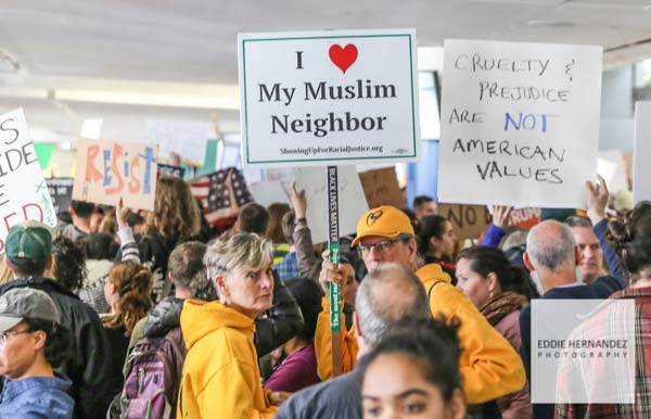 SFO Muslim Travel Ban Protest, 2017, San Francisco International Airport