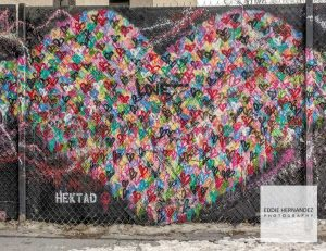 Hektad Street Art, Heart Mural, New York City