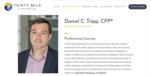Daniel Tripp, Thirty Mile Financial