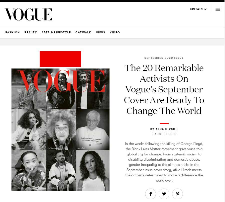 British Vogue, September 2020 Pull-Out Cover