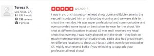 Yelp Business Review, Testimonial