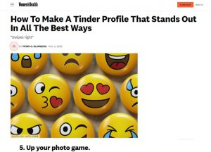 Women's Health - Make A Tinder Profile That Stands Out In The Best Ways