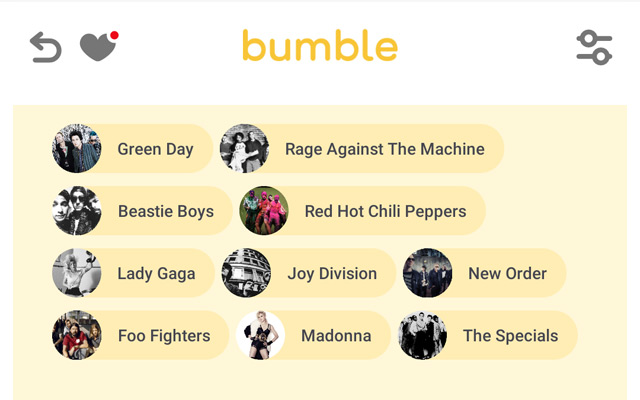 Bumble - Top Artists On Spotify