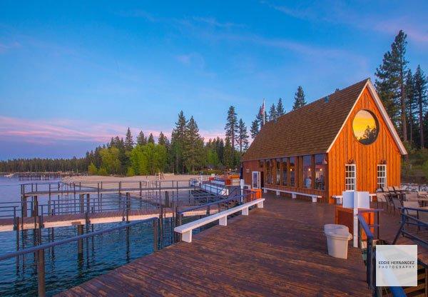 Lake Tahoe Cabin Sunset Landscape