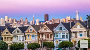 San Francisco, Alamo Square, Painted Ladies