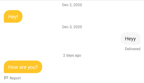 Bumble Opening Line Example, First Message