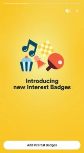 Bumble Interset Badges