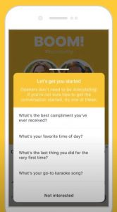 Bumble Dating App Convo Starters, First Lines,