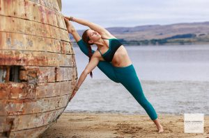Yoga Portrait Pose, Marin County Woman