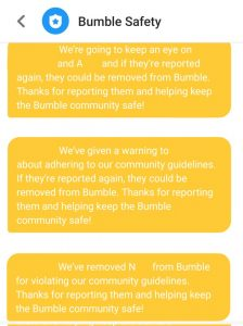Bumble Banned Account Removed Spam